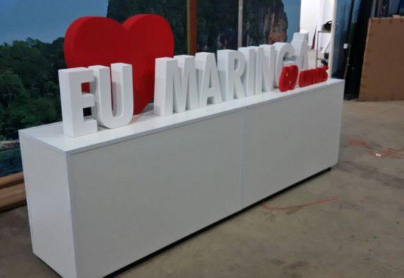 Maringa Park - Eu Amo Maringa - Letreiro com Balcao - 09